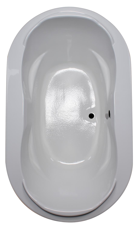 42x72 Oval Drop In Armrest Bathtub BR-57 - BathTubs.com