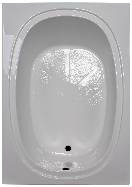 42″ x 60″ Oval Bathtub w/water ring BR-61 - BathTubs.com