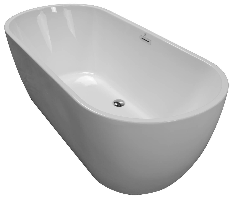 66 7/8x29.5 Freestanding Oval Bathtub BRF-80 - BathTubs.com