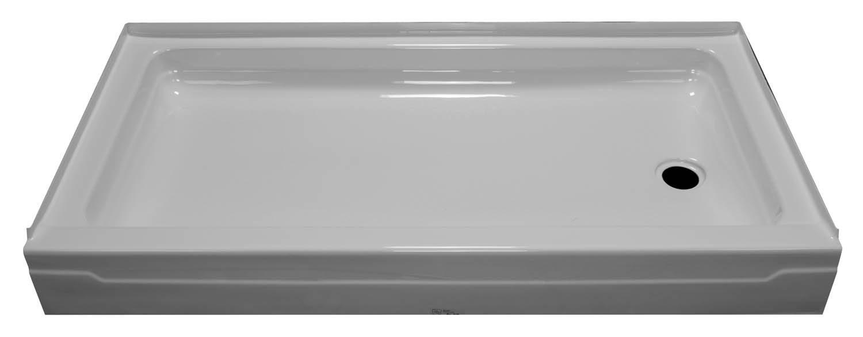 60x32 Single Threshold Shower Pan SP-6032R - BathTubs.com